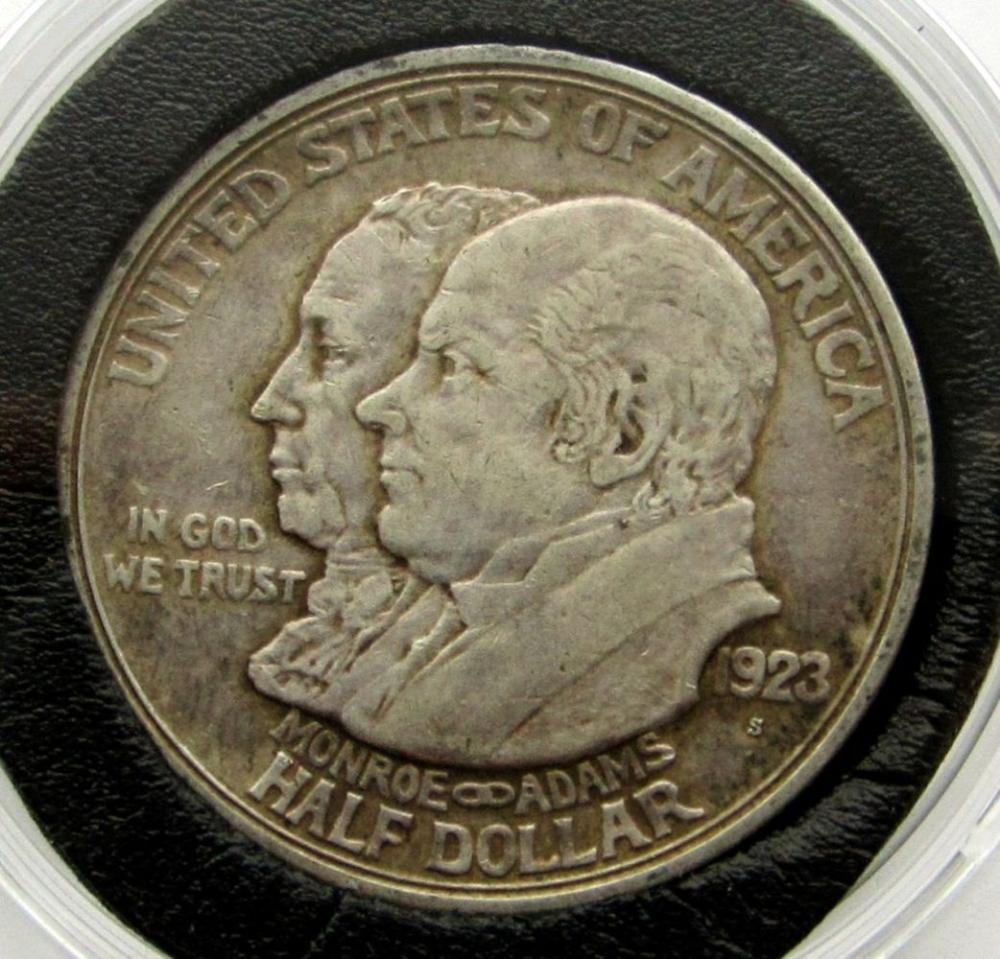 1923-S MONROE COMMEM HALF DOLLAR