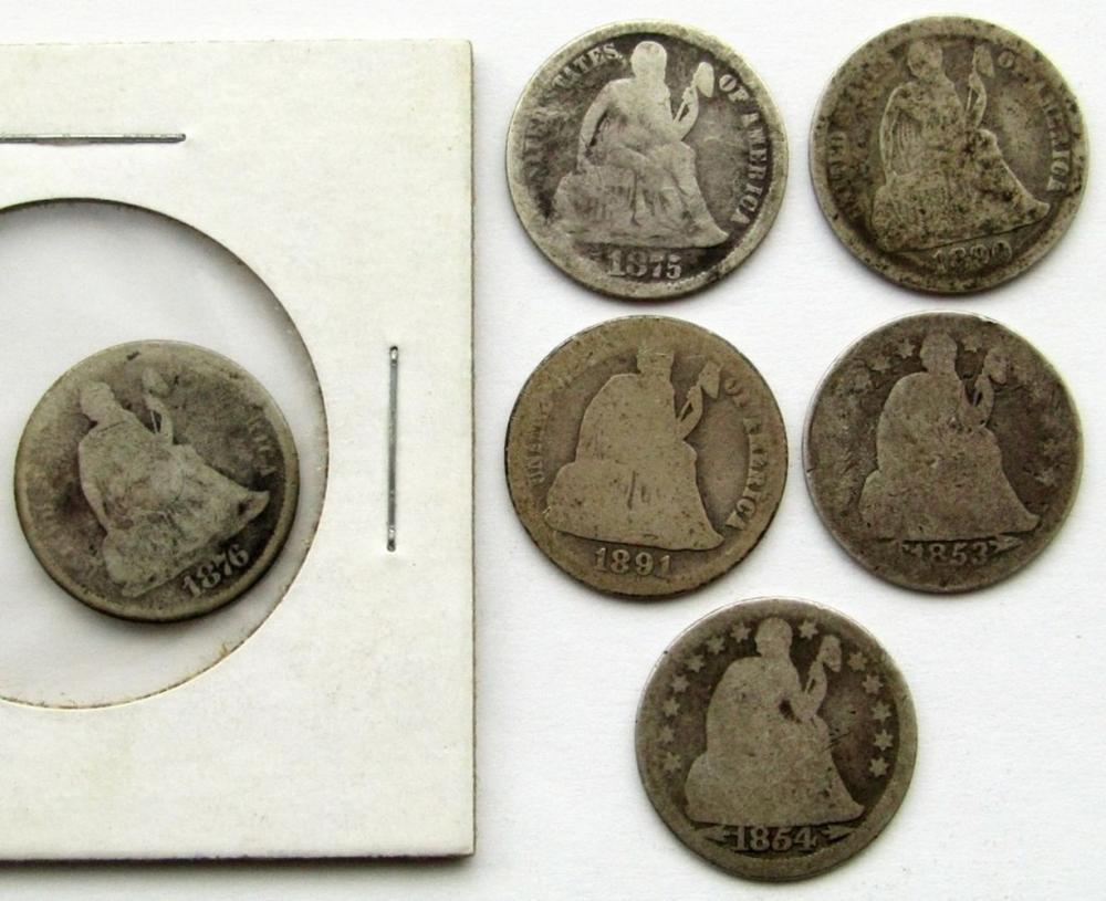 1876-CC, 1875, 1890, 1853 W/ ARROWS,