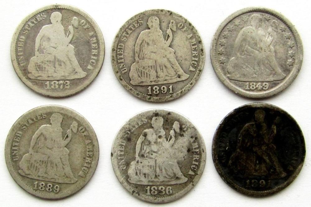 1849, 1872, 1886, 1889, 1891, 1891-O