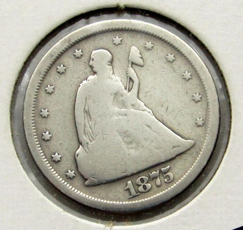 1875-S TWENTY CENT GOOD