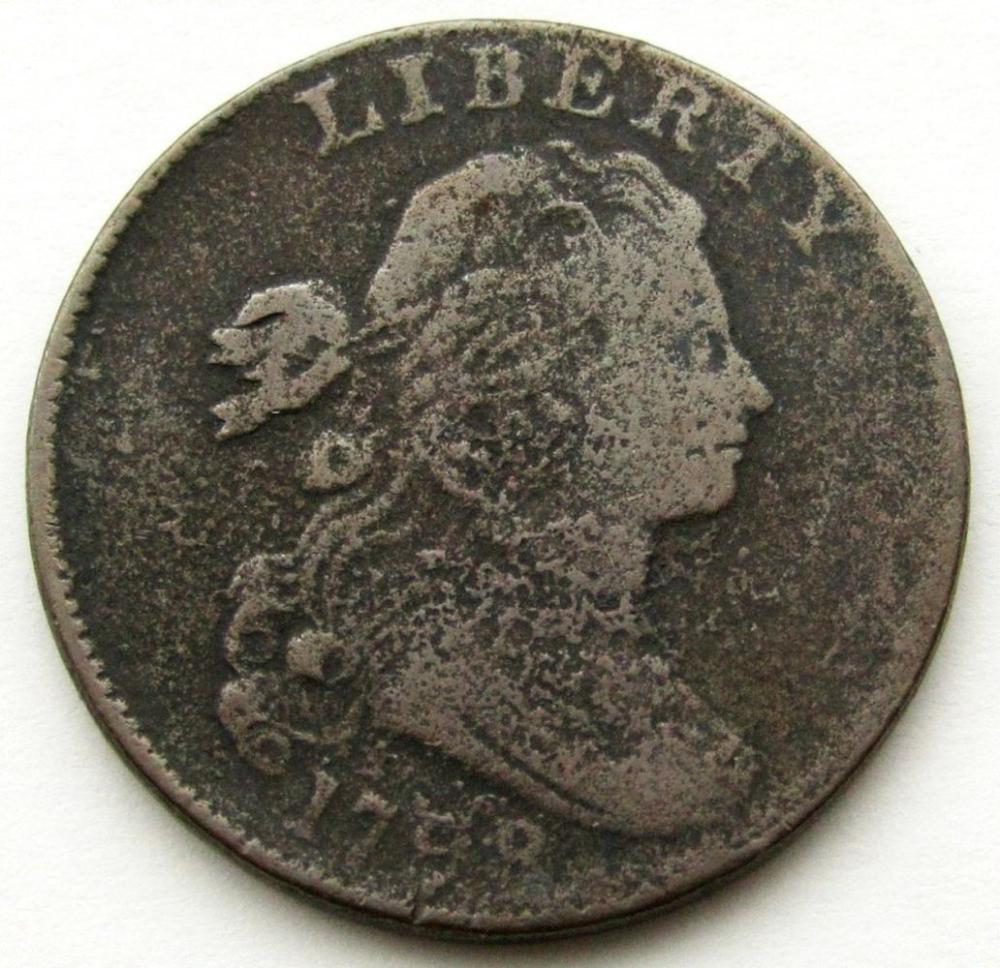 1798 DRAPED BUST LARGE VG/G