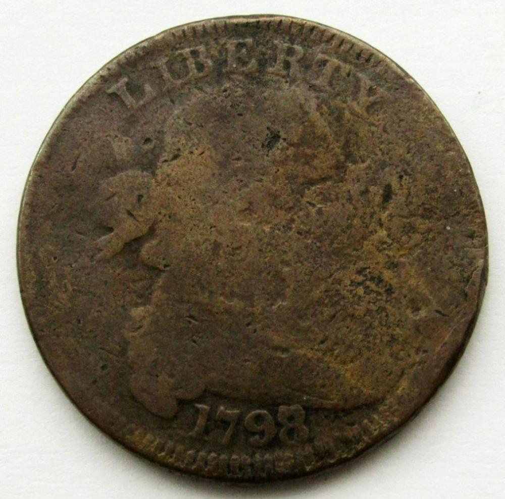 1798 8 OVER 7 DRAPED BUST LARGE