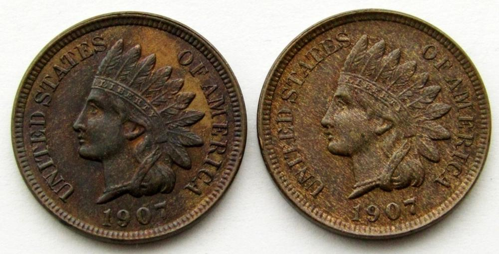 2-1907 INDIAN CENTS