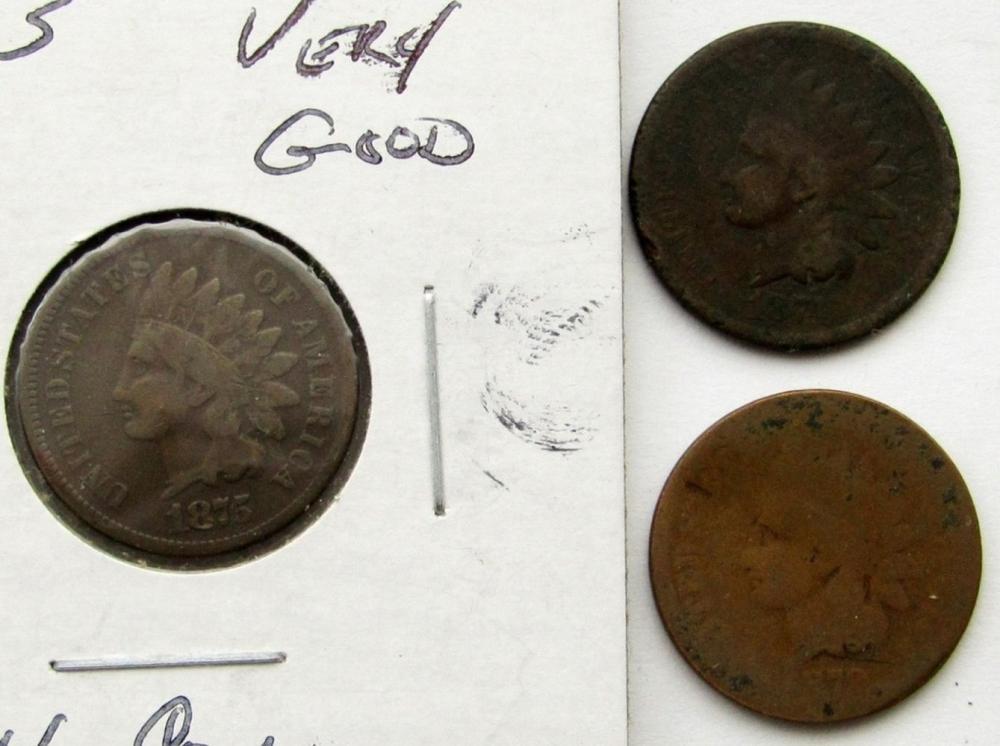 1874 GOOD, 1875 VG, 1879 AG