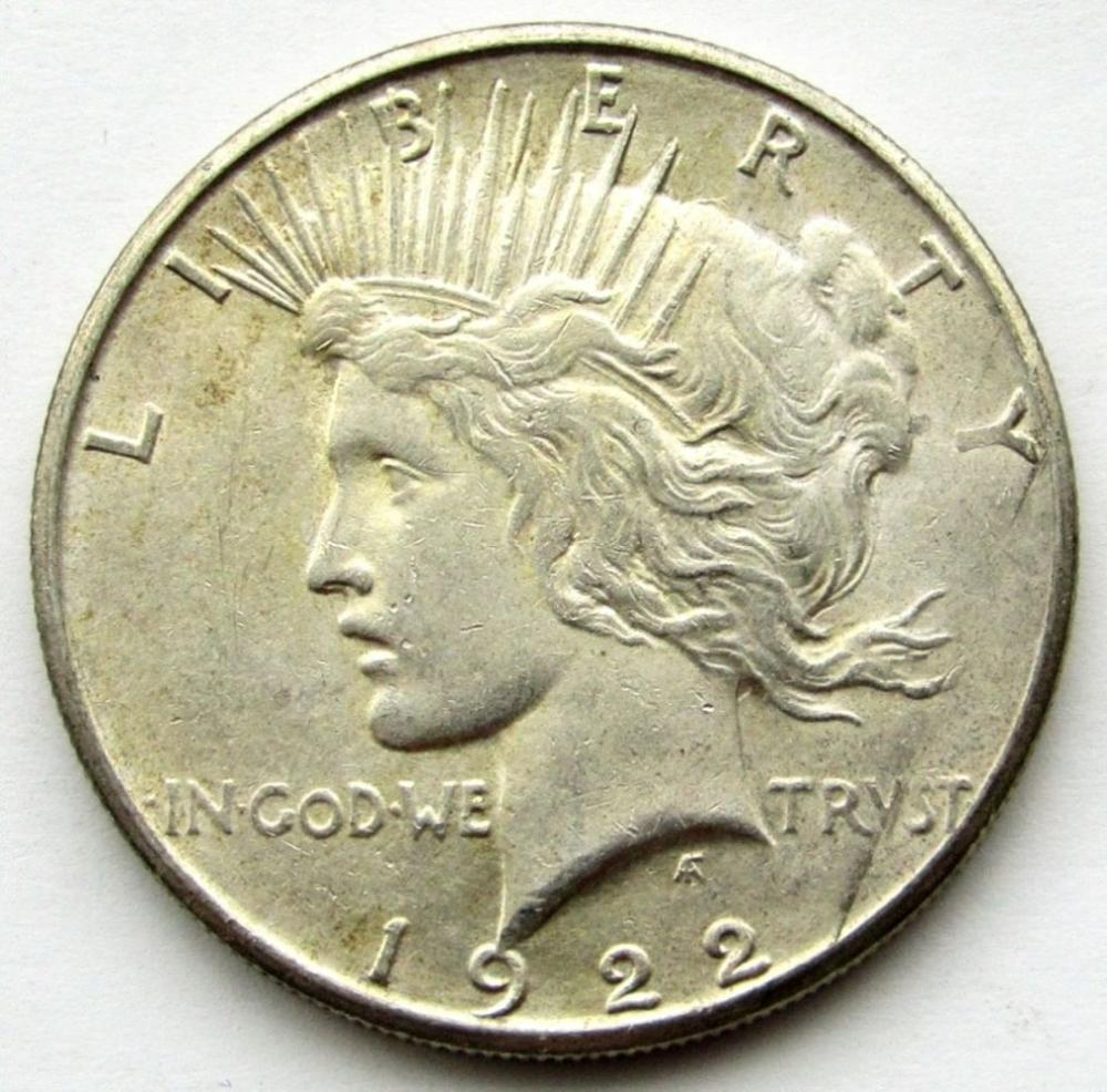 1922 S PEACE DOLLAR AU