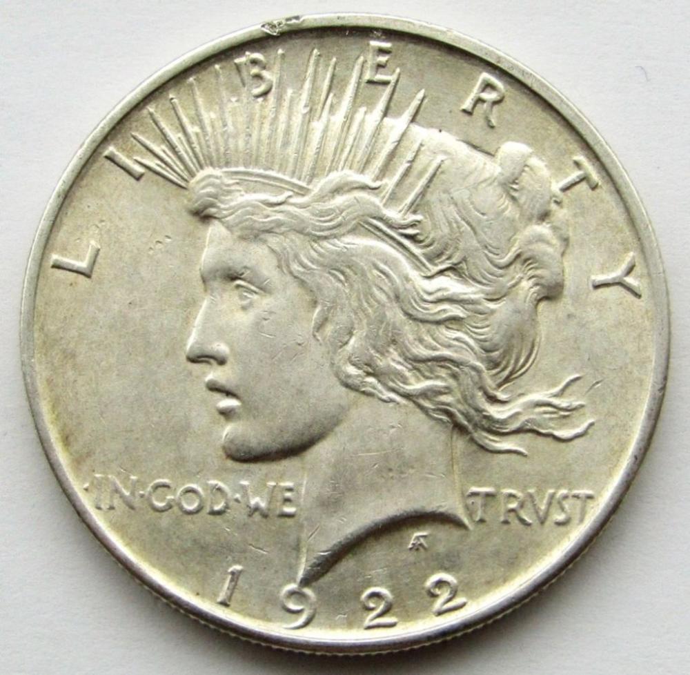 1922 D PEACE DOLLAR AU