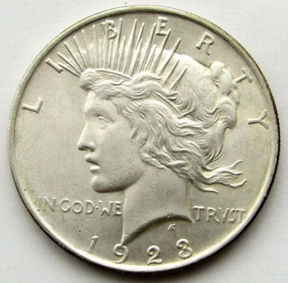 1923 PEACE DOLLAR AU