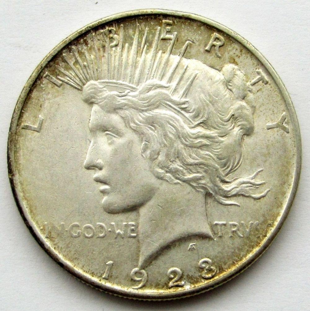1923 D PEACE DOLLAR AU