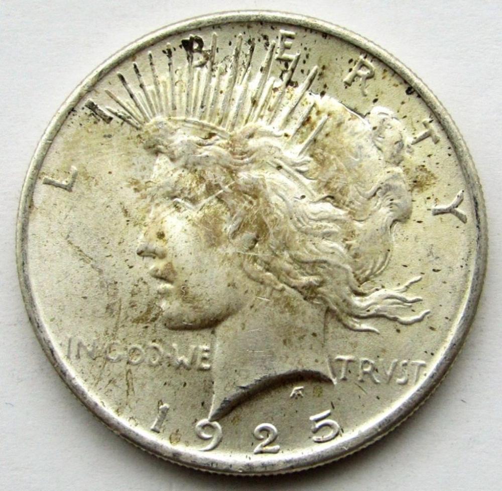 1925 PEACE DOLLAR AU