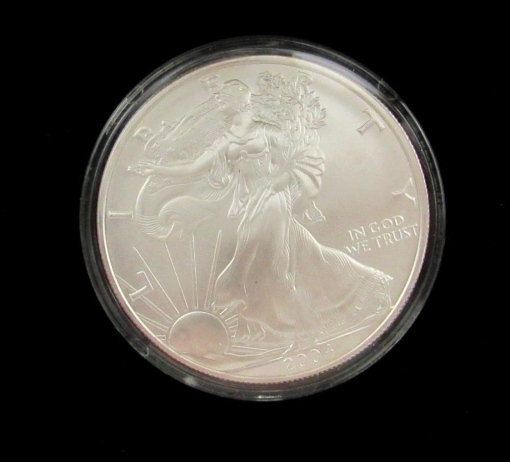 2-2004 AMERICAN SILVER EAGLES