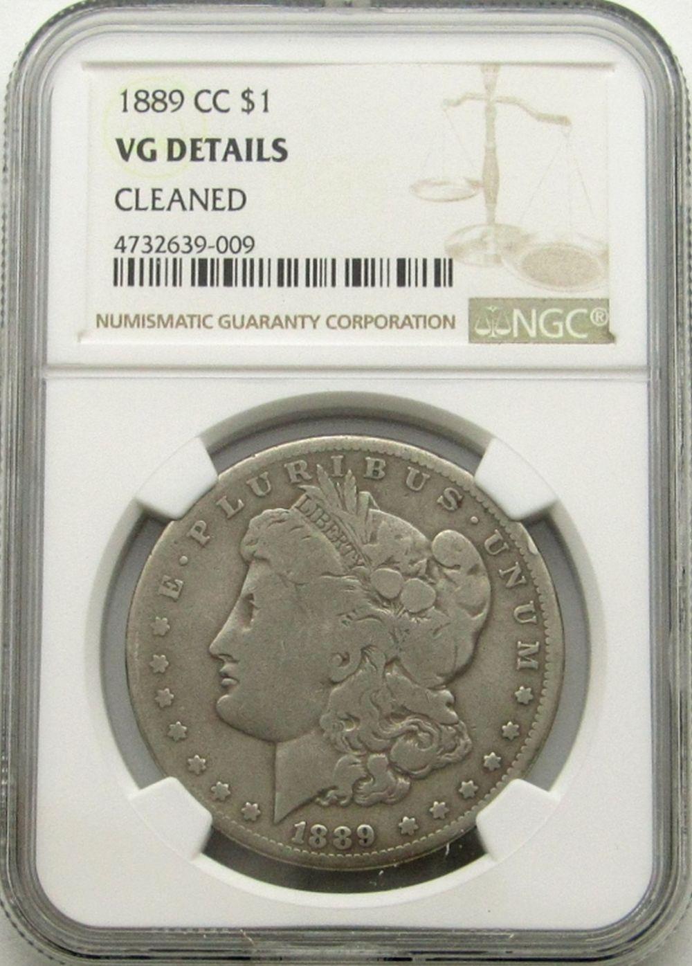 1889 CC MORGAN DOLLAR NGC VG