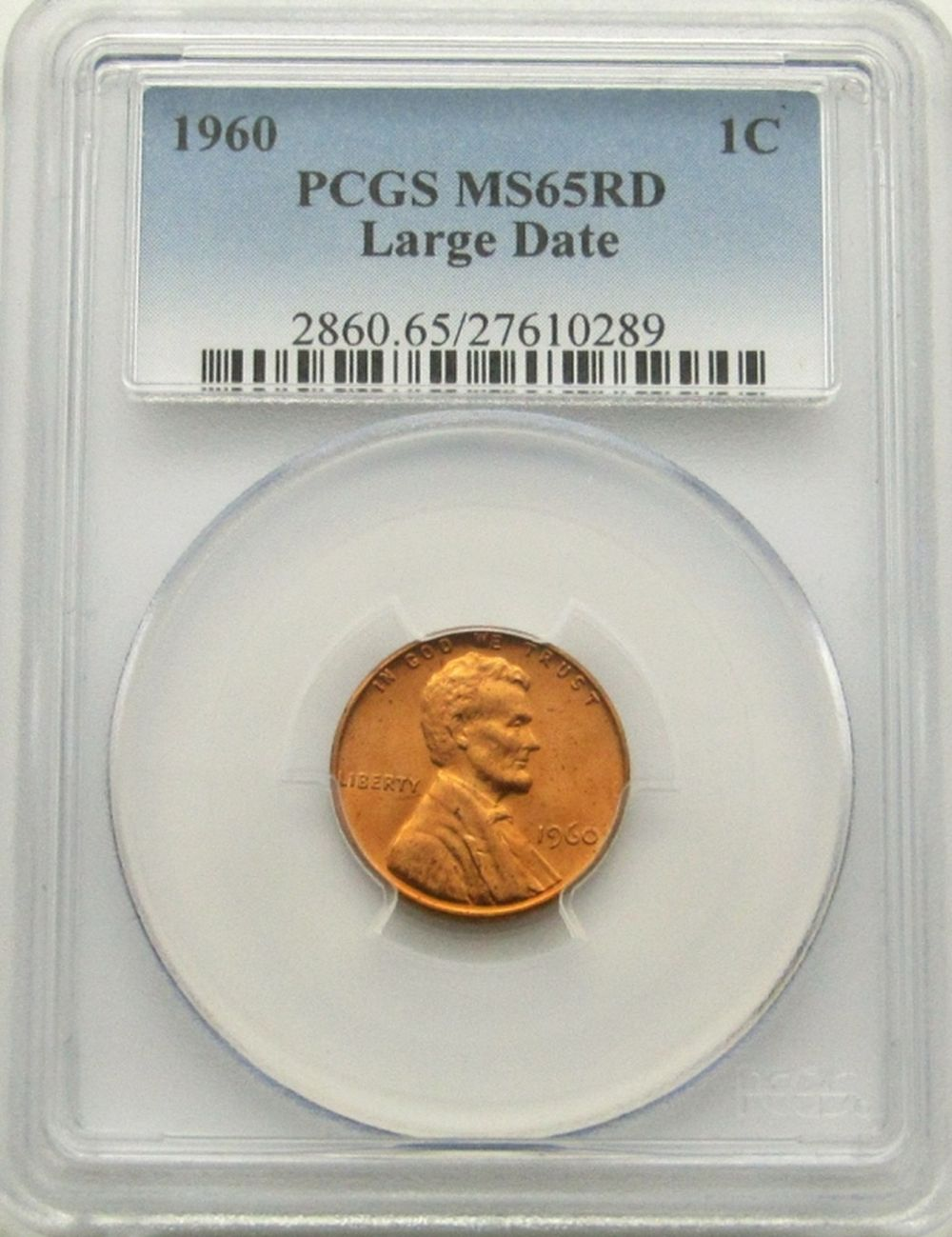 1960 LINCOLN CENT PCGS MS65RD