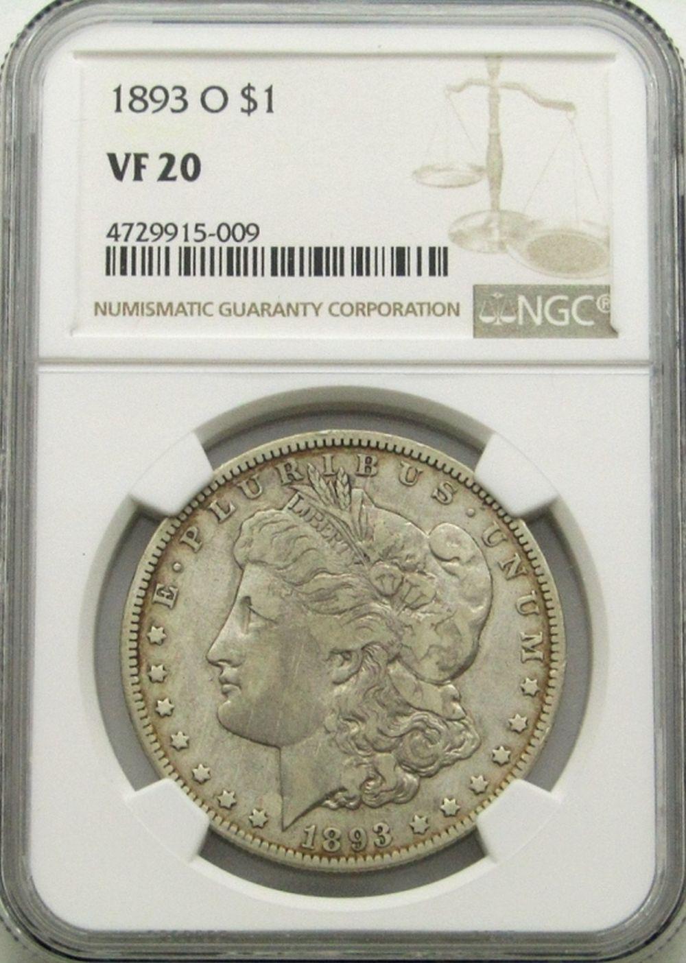 1893-O MORGAN DOLLAR VF20