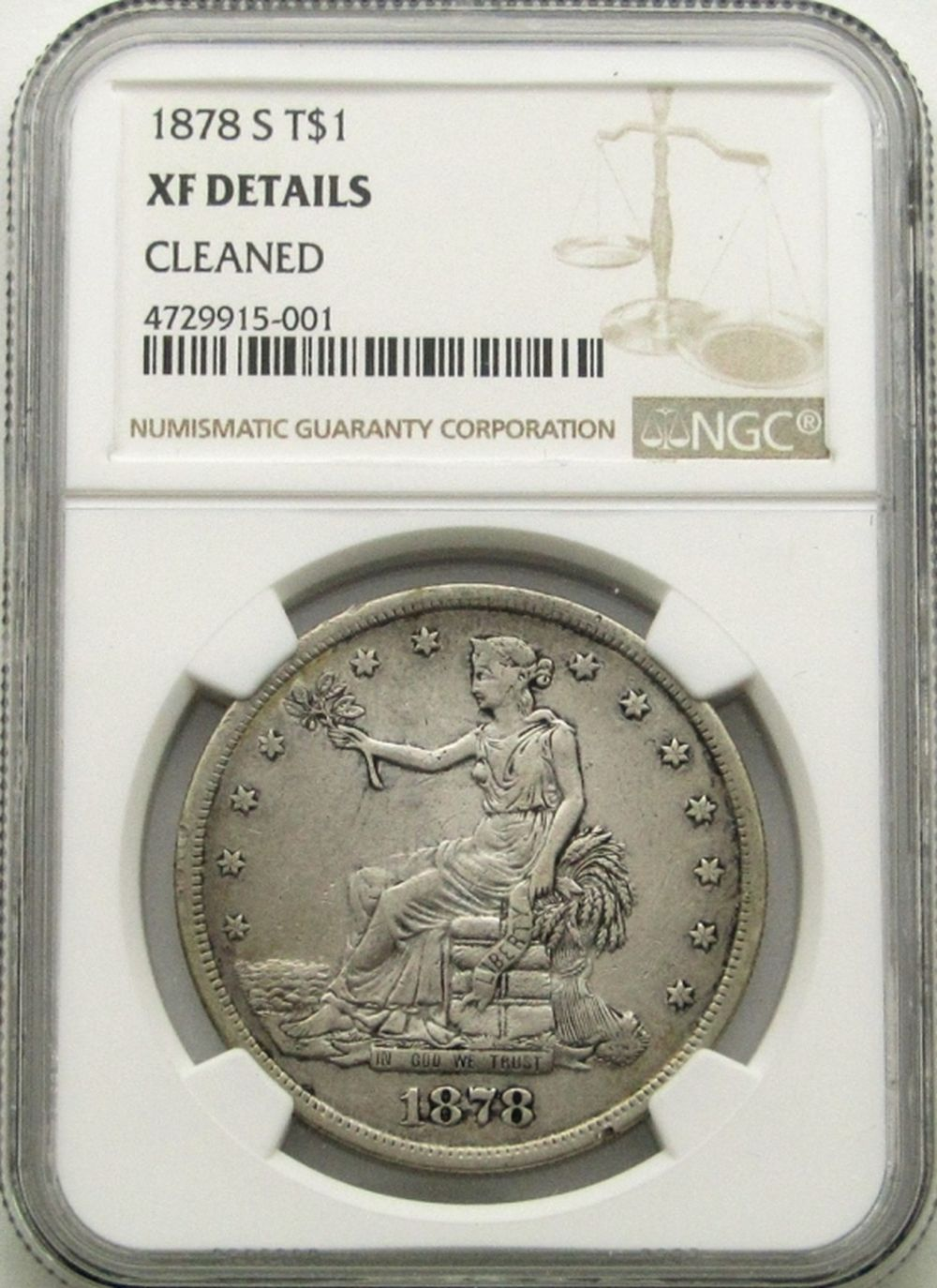 1878-S TRADE DOLLAR NGC XF