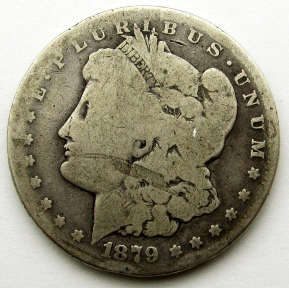 1879-CC MORGAN DOLLAR AG