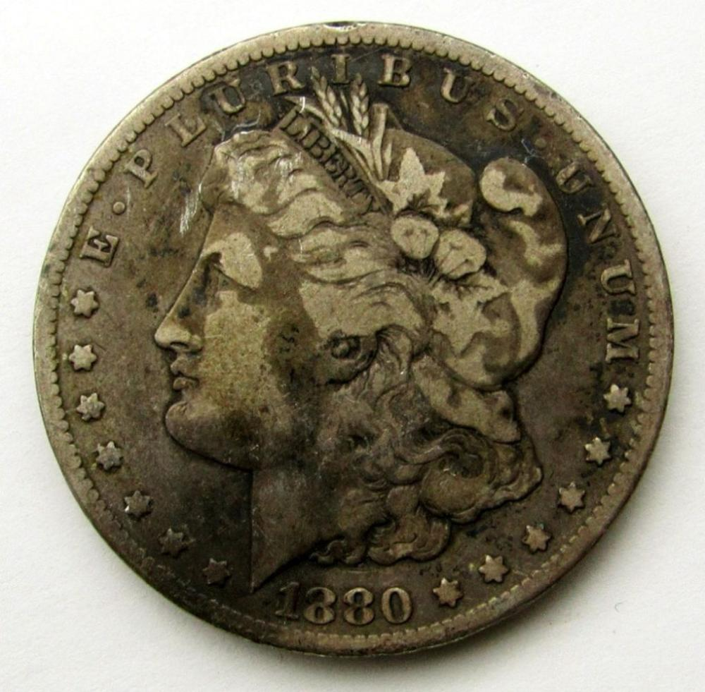 1880-CC MORGAN DOLLAR FINE