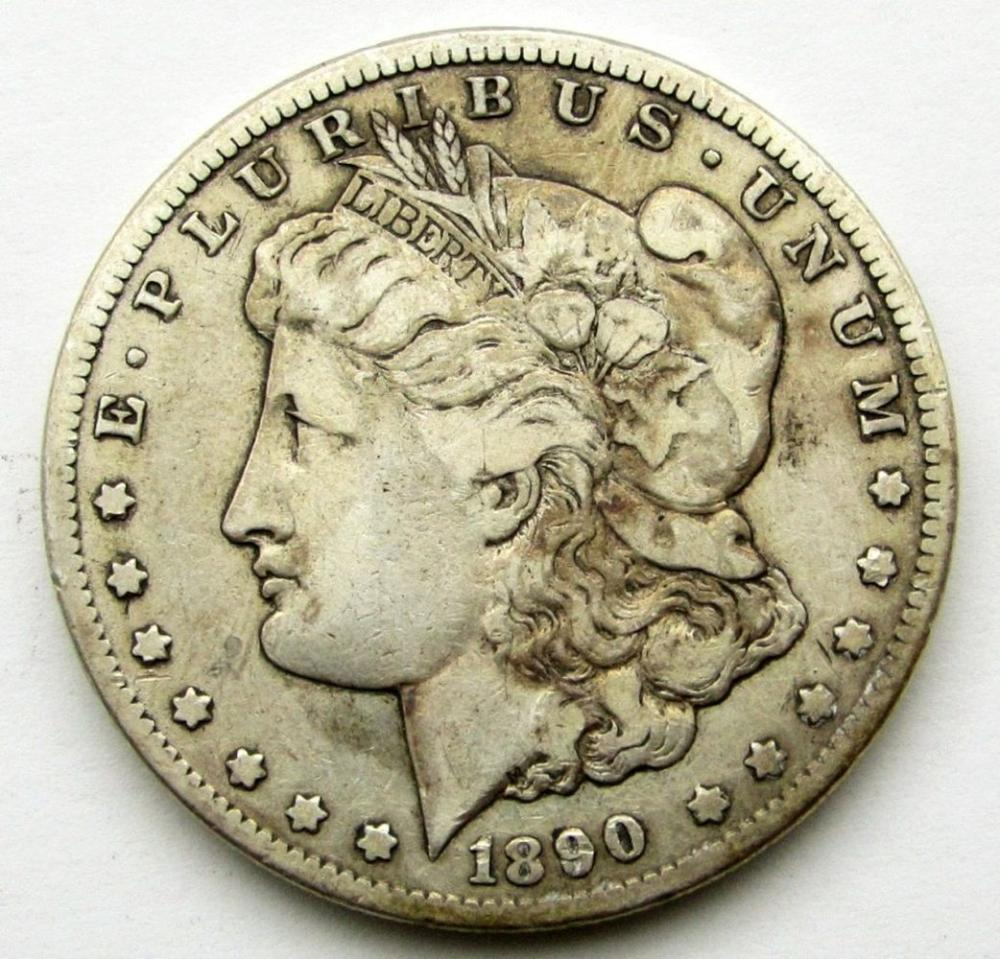 1890-CC MORGAN DOLLAR VG