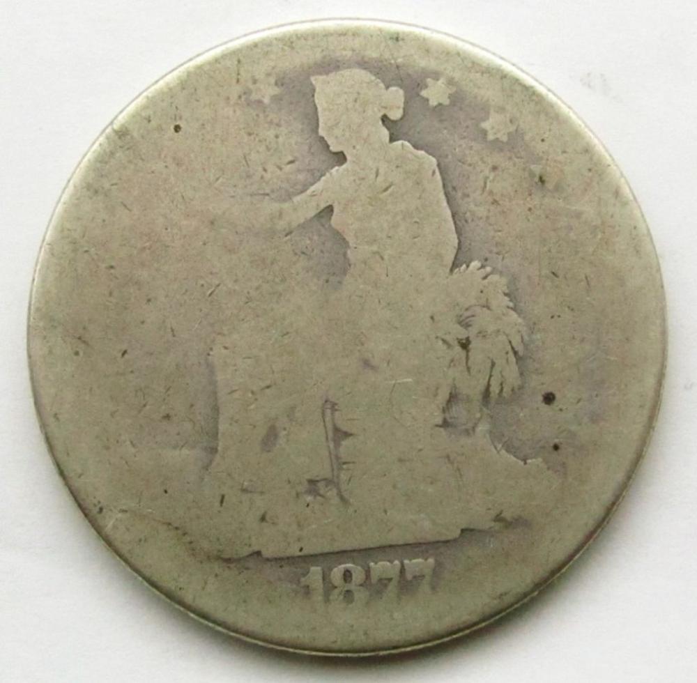 1877 TRADE DOLLAR FAIR/AG