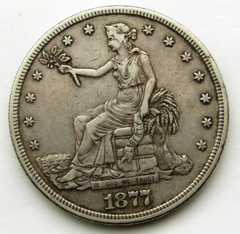 1877-S TRADE DOLLAR VF