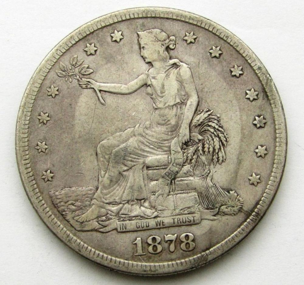 1878-S TRADE DOLLAR FINE
