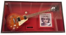 Bob Dylan Signed Guitar Framed