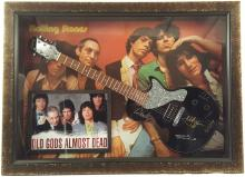 The Rolling Stones Signed Guitar Framed