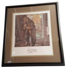 Jethro Tull/Ian Anderson Signed Aqualung Album Cover Framed