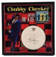Chubby Checker Signed Drum Pad Framed