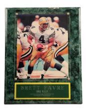 Brett Favre 1995 MVP Signed Photo Plaque