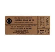 CBS Game Show Ticket