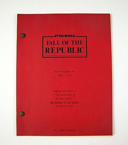 Star Wars Episode Iii Revenge Of The Sith Original Scene Script