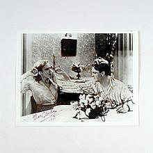 The Public Enemy (1931) Grapefruit Scene Photo Signed by James Cagney & Mae Clarke