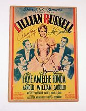 Lillian Russell Signed Lobby Card (Alice Faye/Don Ameche/Henry Fonda)