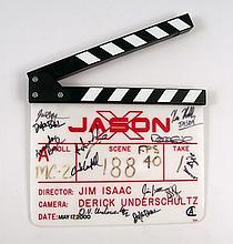 Jason X Cast & Crew Signed Production Clapboard