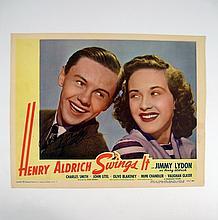 Henry Aldrich Swings It Jimmy Lydon Signed Lobby Card