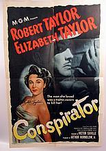 Conspirator Elizabeth Taylor Signed Poster