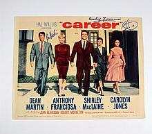 Career Anthony Franciosa/Sammy Cahn Signed Lobby Card