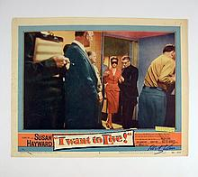 I Want To Live Robert Wise Signed Lobby Card