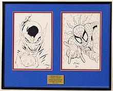 Spiderman/Green Lantern Ethan Sciver Signed Original Artwork