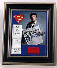 Superman (1978) Perry White (Jackie Cooper) Photo/Autograph & Daily Planet Prop