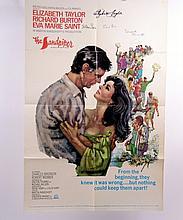 The Sandpiper Elizabeth Taylor, Richard Burton, Eva Marie Saint, Vincent Minnelli Signed Poster