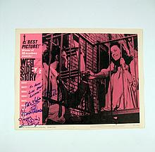 West Side Story Signed (Wise, Robbins, Sondheim, Bernstein, Robbins, Etc.) Lobby Card