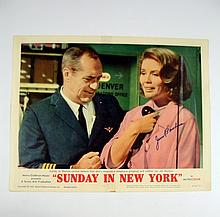Sunday In New York Jim Backus Signed Lobby Card