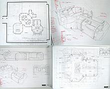 Stargate SG-1 X-303 Set Original Blueprints