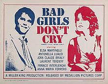 Bad Girls Don't Cry- Rolled U.S. Half-Sheet Poster