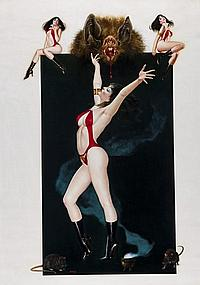 Vampirella Painting by Enric, Measures a giant 35.5