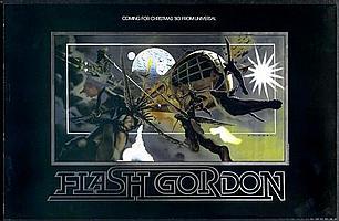 Flash Gordon- Rare Rolled U.S. Special Foil Advance Teaser Poster