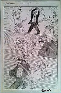 Six String John Stinsman Signed Original Drawing