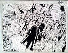 Lady Pendragon Original Ink Art By John Stinsman Signed