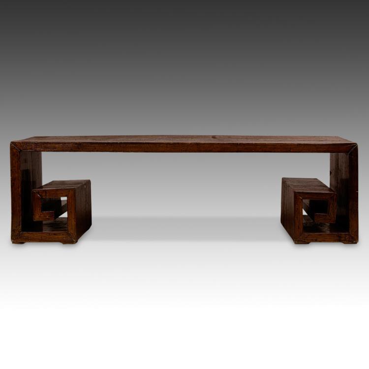 Greek Key Style Bench
